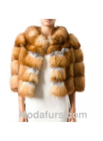 Fox Fur Natural Red Jacket Coat  Bolero Women's