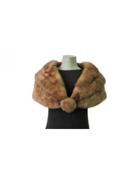 Vintage Mink Fur Cape Stole Wrap Scarf  Shawl Bride Bridesmaid Wedding Women's