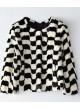 Mink Fur Coat Jacket Bolero Natural Black White Women's Sz S M