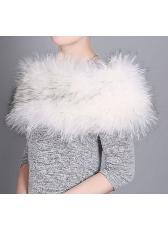 Knitted Fox Fur White Cross Wrap Tube  Eternity Scarf Collar Shawl Stole Stretchable Women's