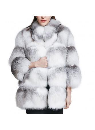 Fox Fur Jacket Coat Cross Fox Women's