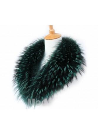 Raccoon Finn Fur Collar Green
