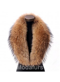 Raccoon Finn Fur Collar Gold