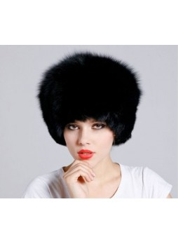 Fox Fur Black Hat Women's