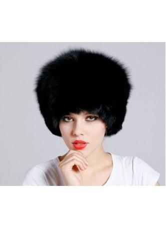 Fox Fur Black Hat Women's