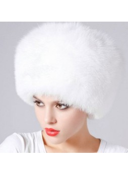 Fox Fur White Hat Women's