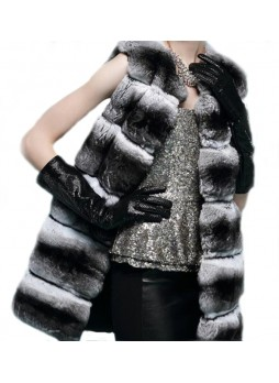 Chinchilla Fur Vest Women's