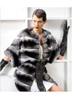 Chinchilla Fur Coat Jacket Vest Women's