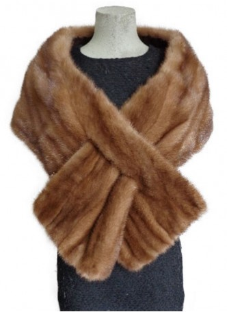 Mink Fur Cape Stole Wrap Scarf Shawl Natural Dark Pastel Wedding Women's