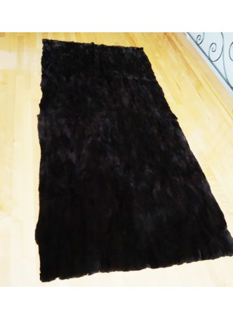 Beaver Sheared Fur Plate Throw Blanket Bedspread Rug Home Decor