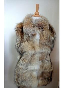 Coyote Fur Vest Women's