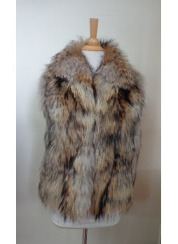 Raccoon Finn Fur Vest Women's
