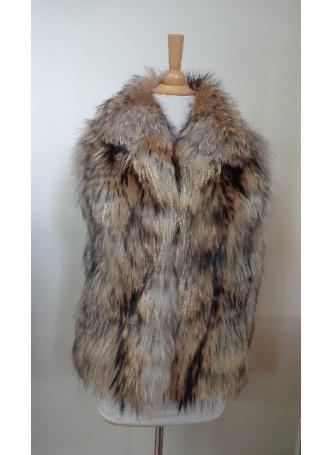Raccoon Finn Fur Vest Women's