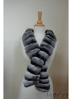Chinchilla Fur Collar Scarf Women