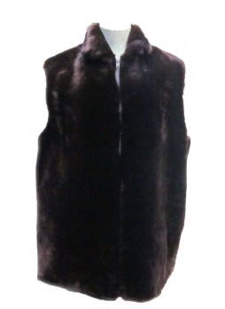 Men's Bon Mouton Fur Vest Brown Lamb Man