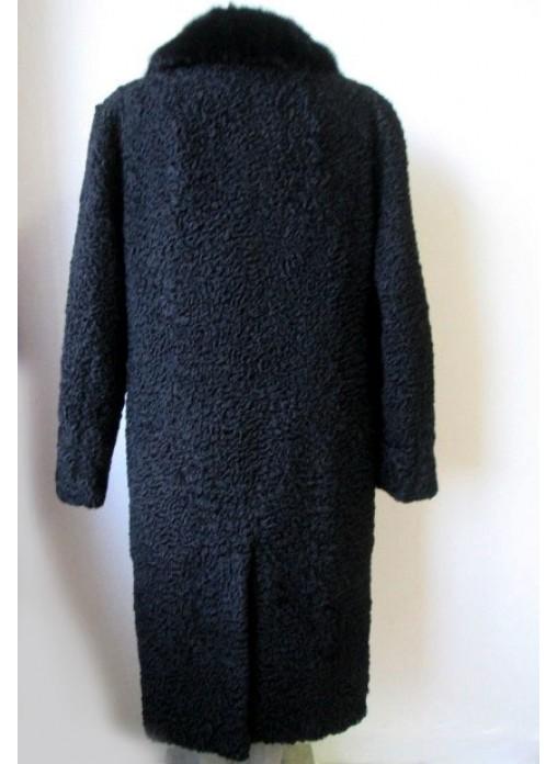 Men S Persian Lamb Fur Coat Jacket With Mink Fur Collar