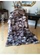 Crystal (Natural) Fox Fur Plate Throw Blanket Bedspread Rug Home Decor