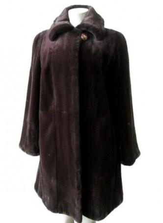 Mink Sheared Fur Coat Jacket Stroller Women's