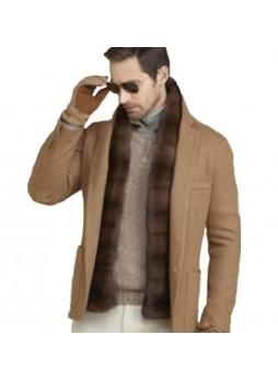 Men's Mink Fur Scarf Collar Man