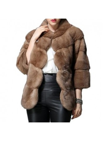 Mink Fur Jacket Coat  Bolero Women's