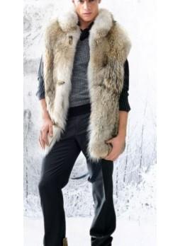 Coyote Fur Vest Men's