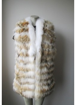 Coyote & Fox Fur Vest Women's
