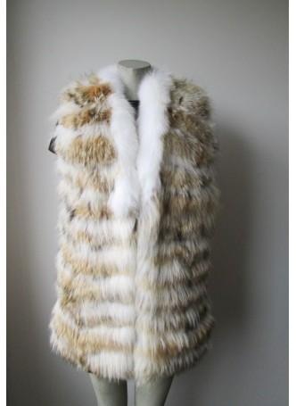 Coyote & Fox Fur Vest Women's