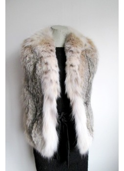 Lynx Fur Vest Women's Small