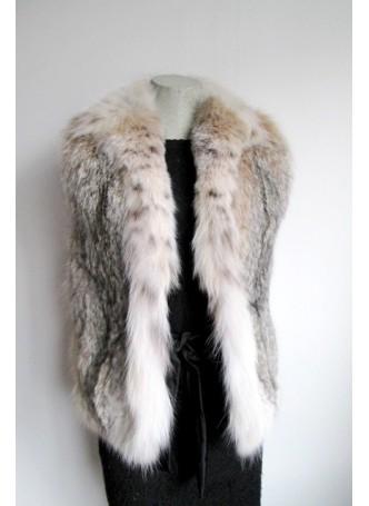 Lynx Fur Vest Women's Small
