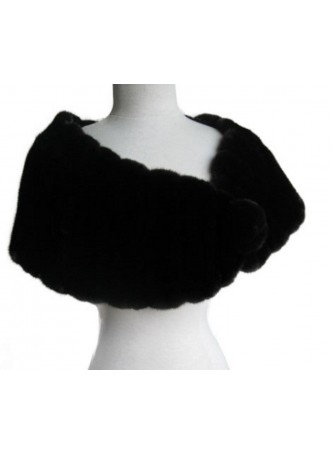 Mink Fur Cape Stole Wrap Scarf Shawl  Wedding Women's