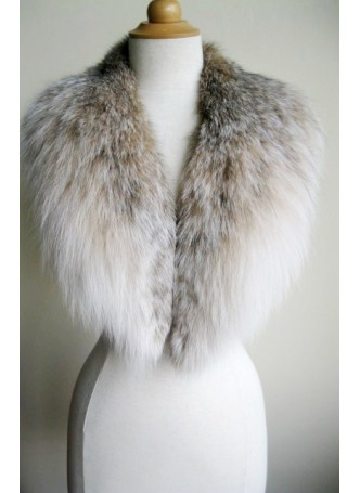 Lynx Fur Collar Scarf Women's