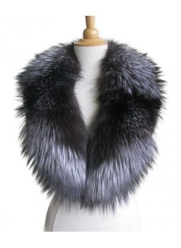 Silver Fox Fur Collar Women's