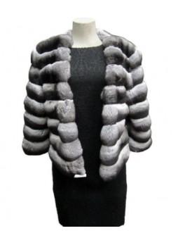 Chinchilla Fur Jacket Coat Women's
