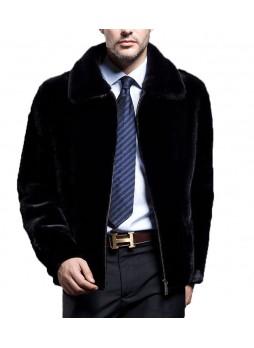 Mink Fur Jacket Coat Men's