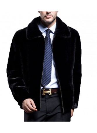 Men's Mink Fur Jacket Coat