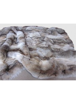 Coyote Fur Plate Throw Blanket Bedspread Rug Home Decor Decoration