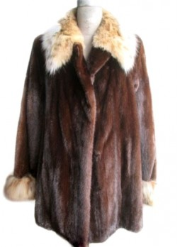 Mink Fur Coat Jacket Lynx Fur AMERICAN LEGEND Women's