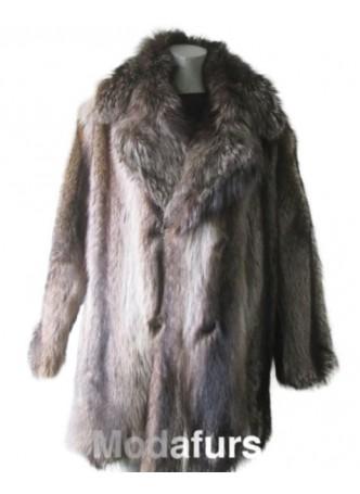 Raccoon Fur Jacket Coat Men's