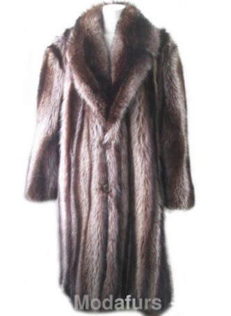 Raccoon Fur Coat Men's