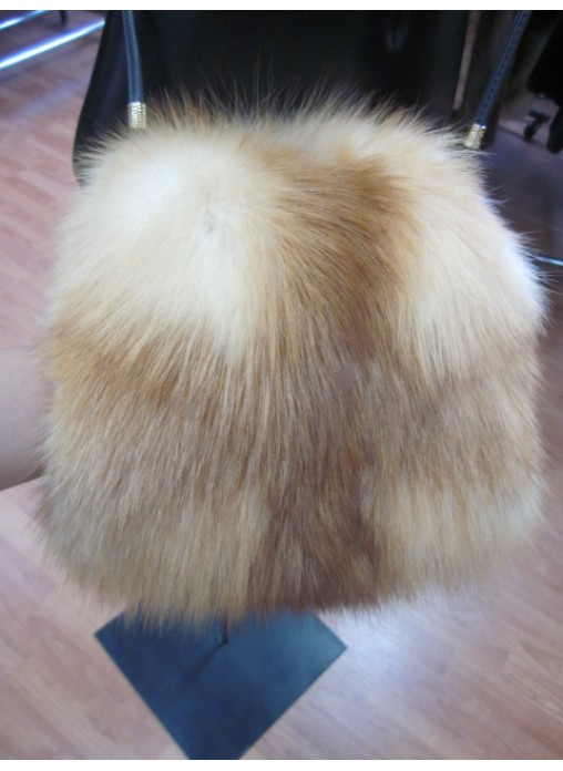 Fox Fur Red Natural Bag Purse Cross Body Shoulder Bag Hand