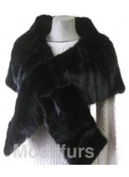 Mink Fur Cape Stole Wrap Scarf Shawl Natural Dark Ranch Wedding Women's