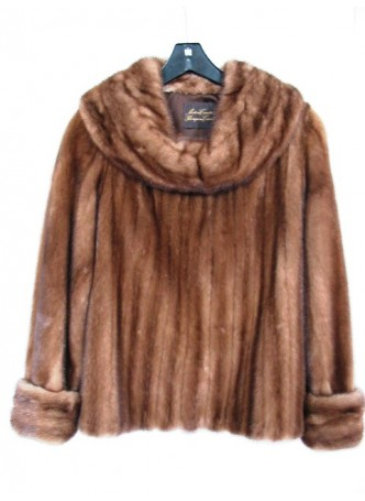 Mink Fur Jacket Sweater Pullover Women's
