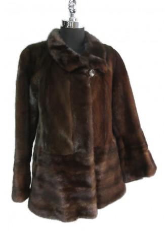 Mink Fur Mahogany Coat Jacket Female Mink Women's