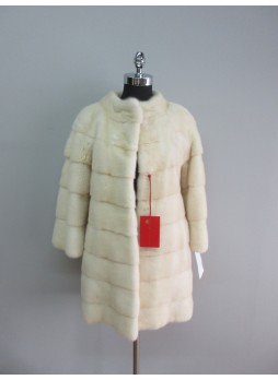 Mink Fur Jacket Coat Women's Natural Pearl SAGA MINK