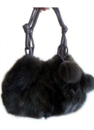 Russian Sable Fur Hand Bag, Purse, Shoulder Bag Women's