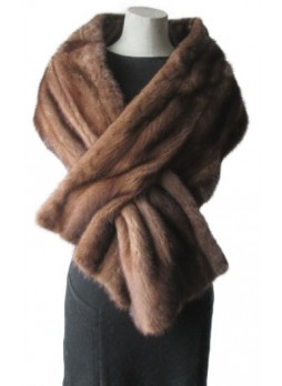 Mink Fur Cape Stole Wrap Scarf Shawl Natural  Wedding Women's