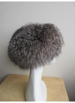 Fox Fur Hat Women's Natural Silver
