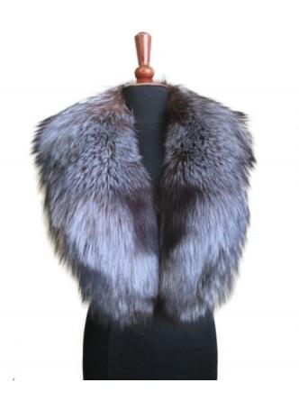 Silver Fox Fur Collar Women's