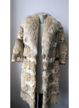 Vintage Canadian Lynx Fur Coat Women in Mint Condition