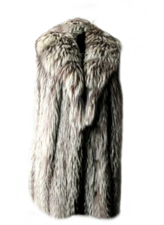 "Silver Fox Fur Vest Women's Length 29"" Showroom Clearance Sale!"